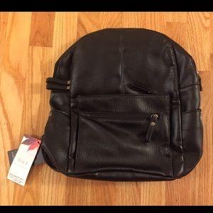 Guiyunlai Black PU Leather Women's Backpack